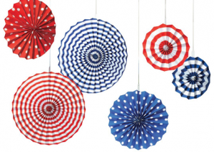 6 Patriotic Paper Fan Decorations Only $9 Shipped