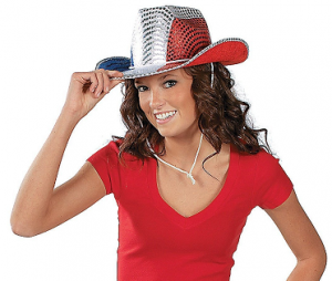 Patriotic Sequin Cowboy Hat Only $7.89 Shipped