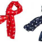 Red or Blue Patriotic Star Scarf Only $10.55 (Reg $16)