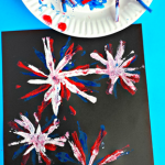 Pipe Cleaner Fireworks Craft for Kids