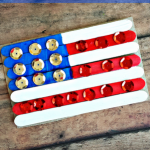 Popsicle Stick American Flag Craft for Kids