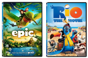 Epic & Rio DVD's Only $2.99 Shipped on Amazon