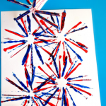 Fireworks Craft for Kids Using Straws