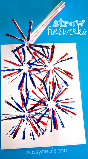 straw-fireworks-craft-for-the-4th-of-july
