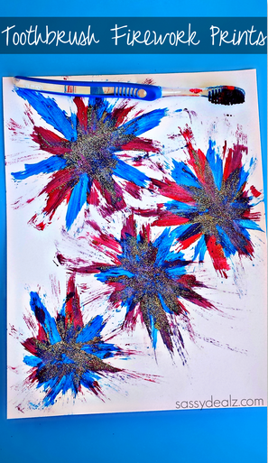 toothbrush-fireworks-4th-of-july-craft-