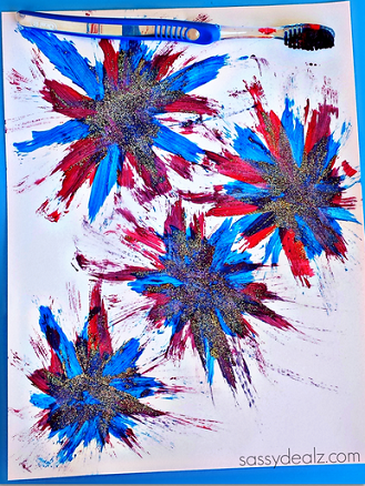 toothbrush-fireworks-craft-for-kids