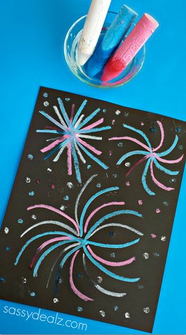 wet-chalk-fireworks-4th-of-july-craft-for-kids