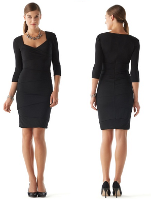 white-house-black-market-slimming-dress