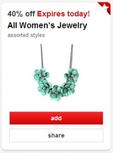 Target Cartwheel: Get 40% Off Women's Jewelry (Today Only)
