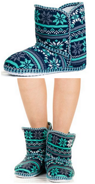 foldover-blue-snowflake-slippers-on-sale