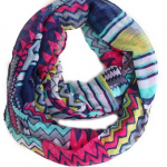 Retro Tribal Sheer Infinity Scarf on Sale